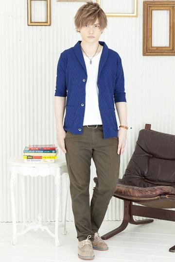 綺麗目ネイビーで青少年風