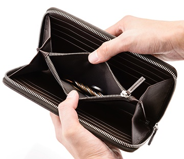 竹でできた財布
